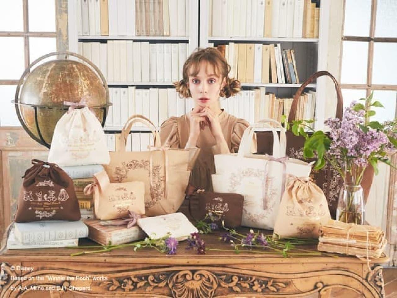 Maison de FLEUR「くまのプーさん」新コレクション -- ボタニカル調トートバッグ・ポーチなど