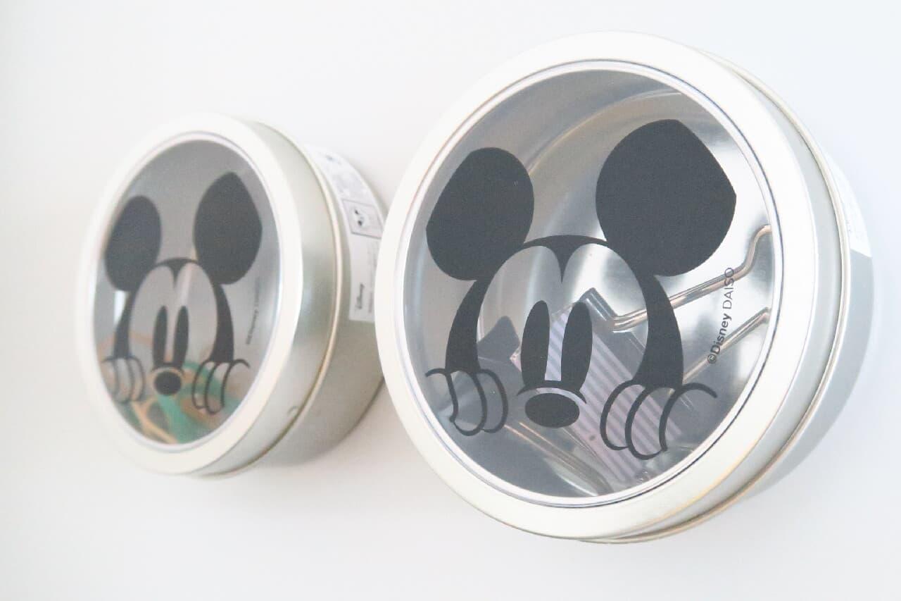 ダイソー「くっつく缶ケース(ミッキーマウス)」小物を可愛く&わかりやすく保管