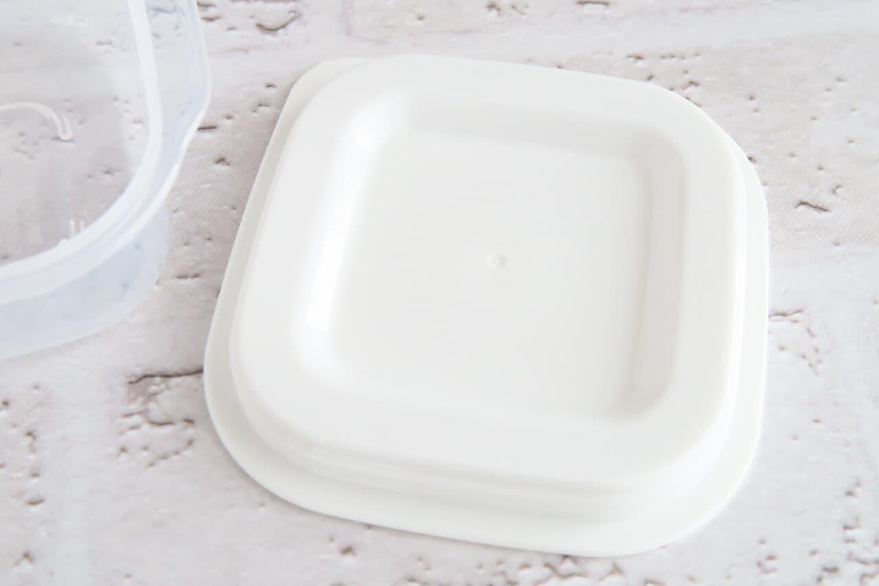 イオン「HOME COORDY そのままレンジ保存容器 正方形90ml」レビュー -- 薬味など入れやすいミニサイズ