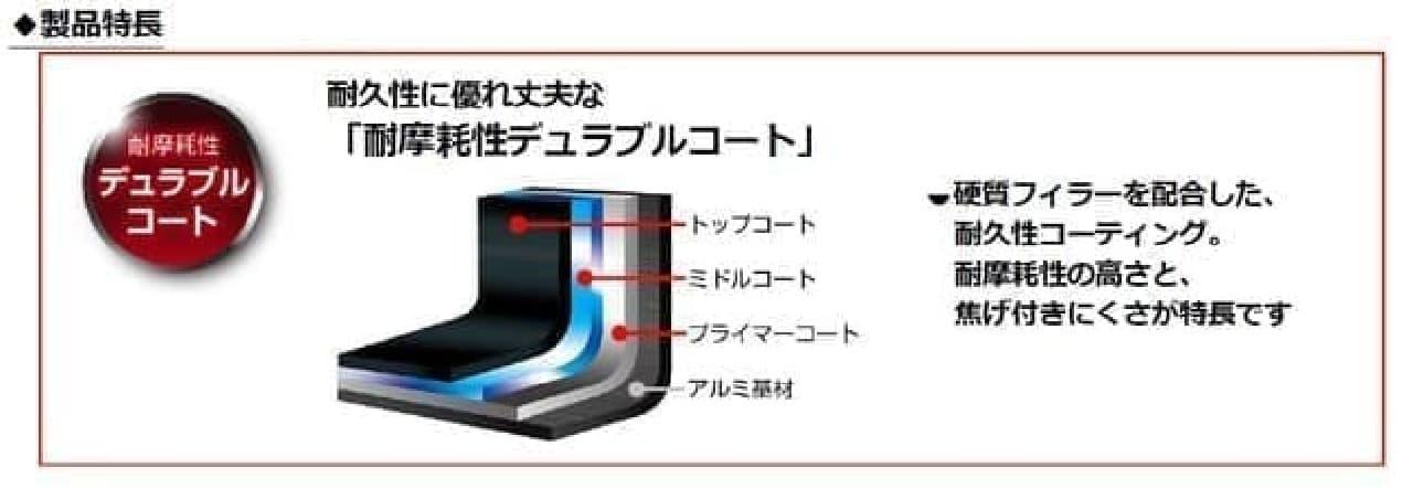 「サーモス デュラブルシリーズ」フライパン新商品 -- 煮込みにも役立つ深型設計