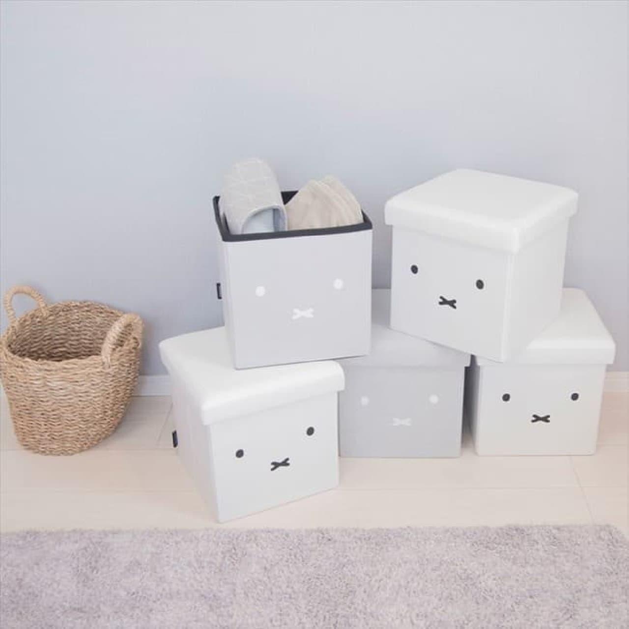 「【ミッフィー】収納できるスツール」ヴィレヴァンに -- 椅子・収納ボックス・足置きの便利な3役