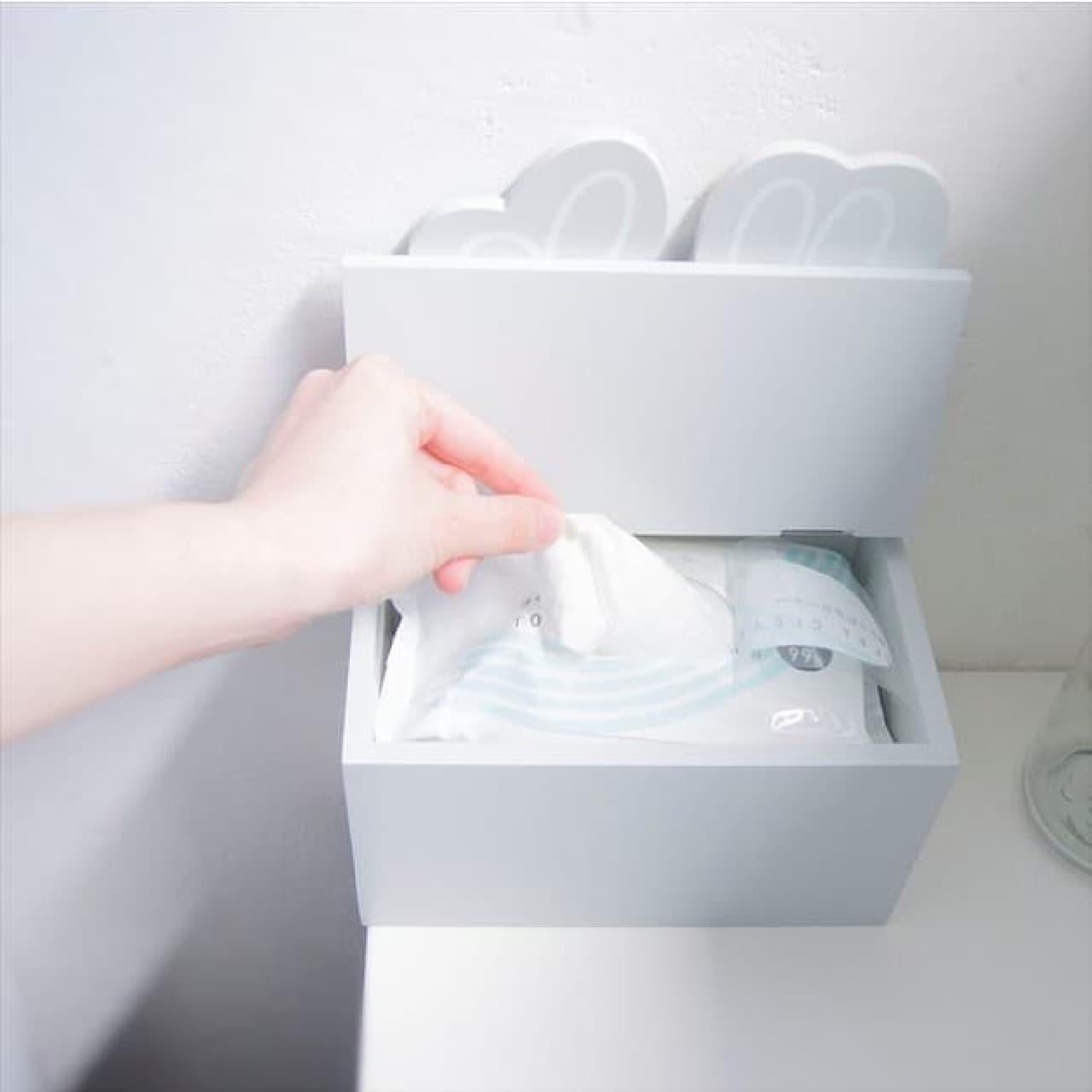 ミッフィーをデザインしたトイレ小物収納ケースなどがヴィレッジヴァンガードオンラインストアに新登場。