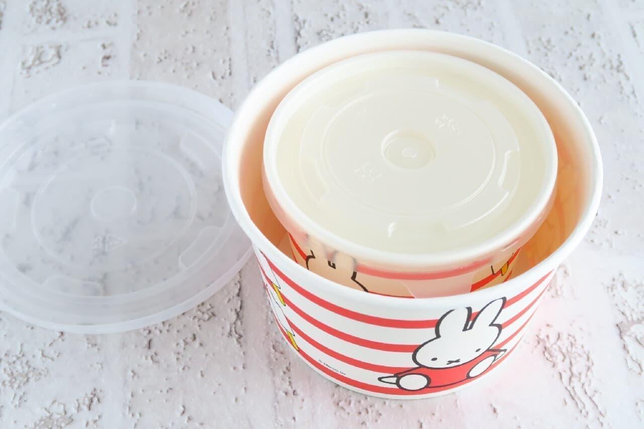 【100均】ミッフィー柄デザートカップが可愛い!ふた付きクリアカップも