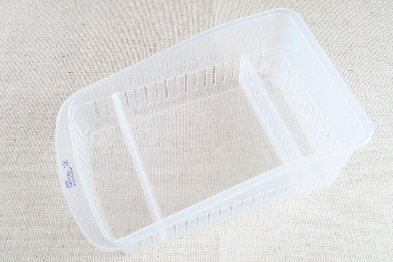 100均「袋物ストッカー」で冷蔵庫すっきり収納!調整できる仕切りつき