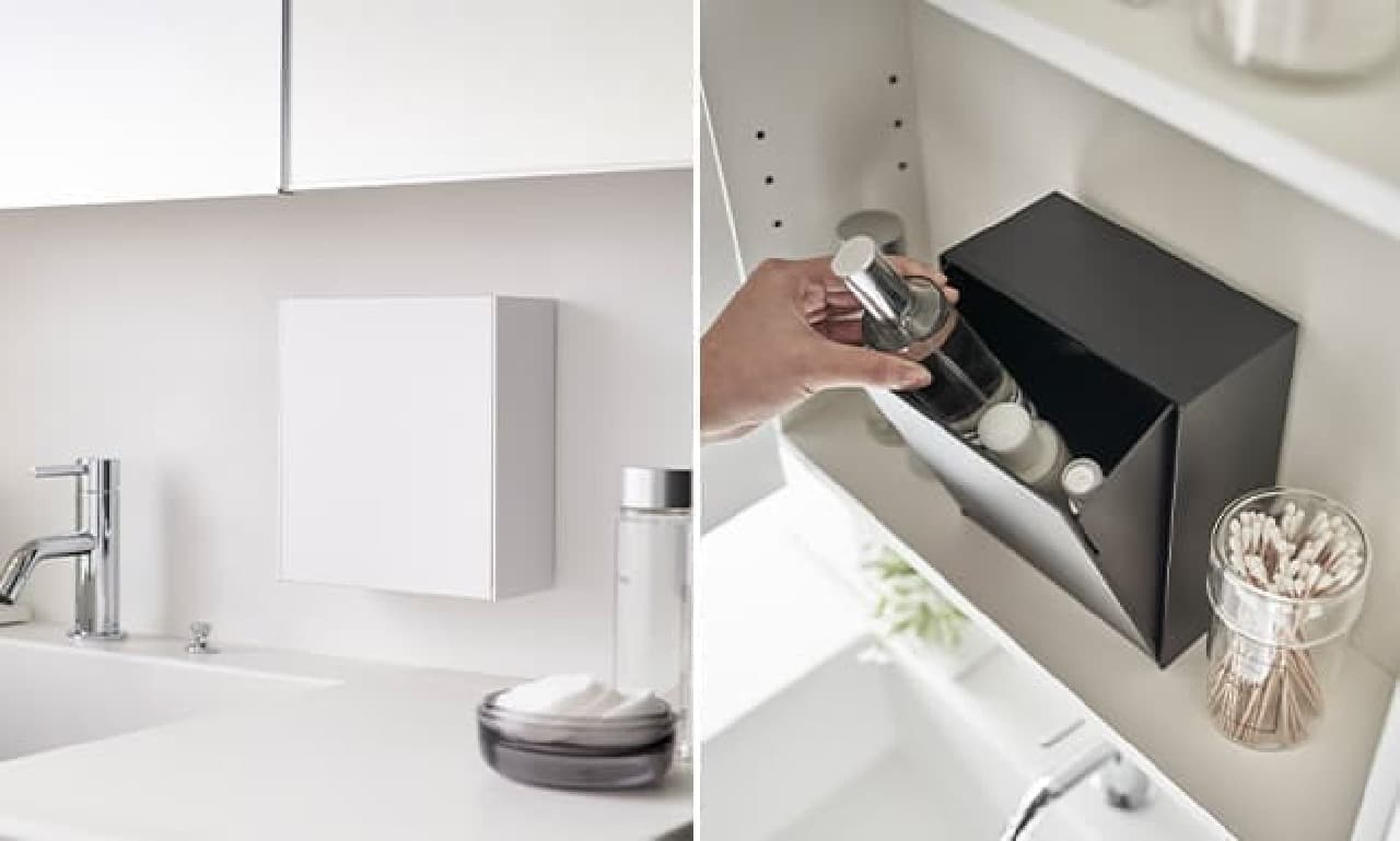 「ウォールダストボックス&収納ケース タワー」山崎実業から -- 袋・ゴミを見せないスマートなデザイン