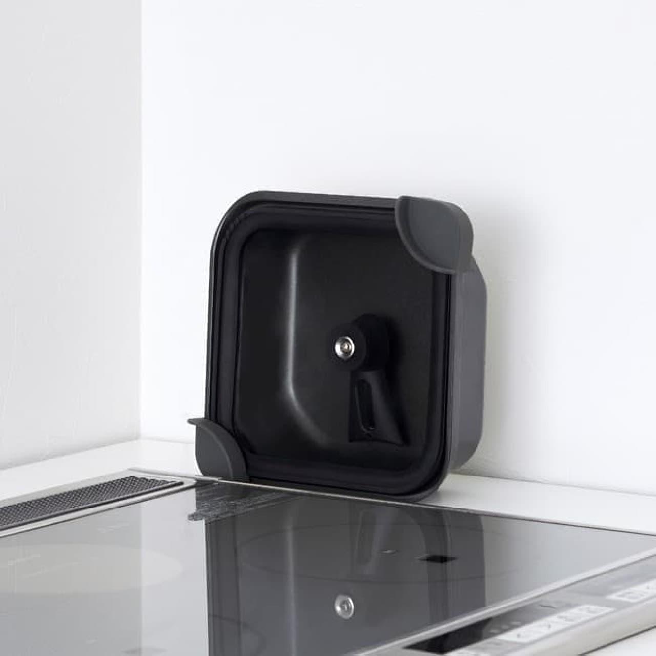 「sutto(スット)四角いお鍋」ドウシシャから -- 立ててコンパクト収納&手入れも簡単