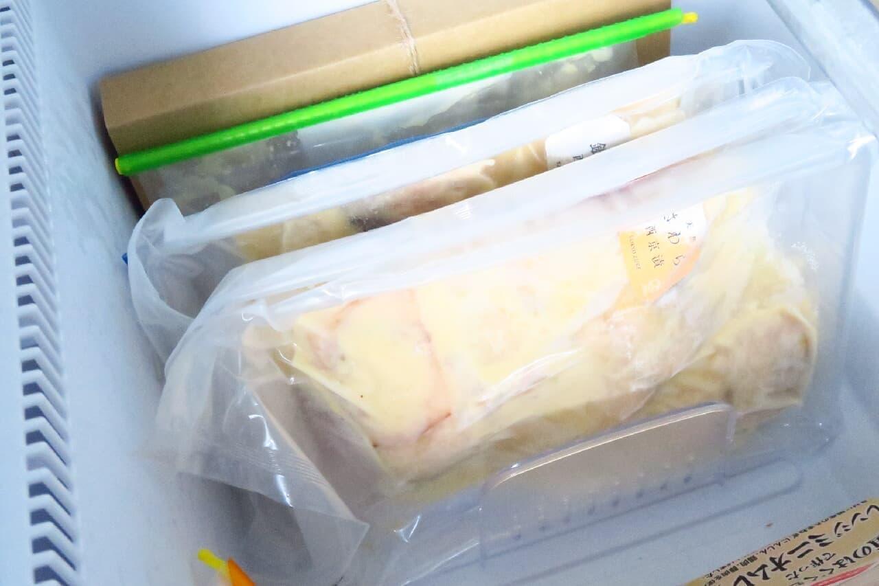 100均フリーザースタンドで冷凍庫整理♪ 冷食すっきり収納&幅の調整可能