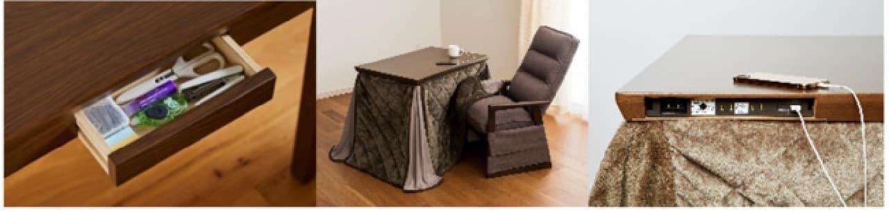 ホームコーディ秋冬商品約550アイテム -- 軽量セラミックコート卓上鍋18cm・在宅ワーク向けこたつなど