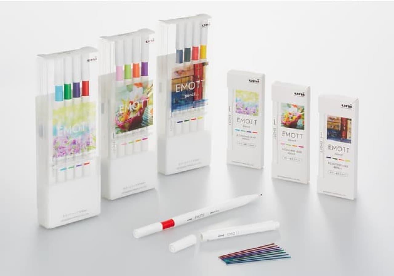 カラーシャープ「EMOTT(エモット)pencil」発売 -- 色鉛筆のような描画に