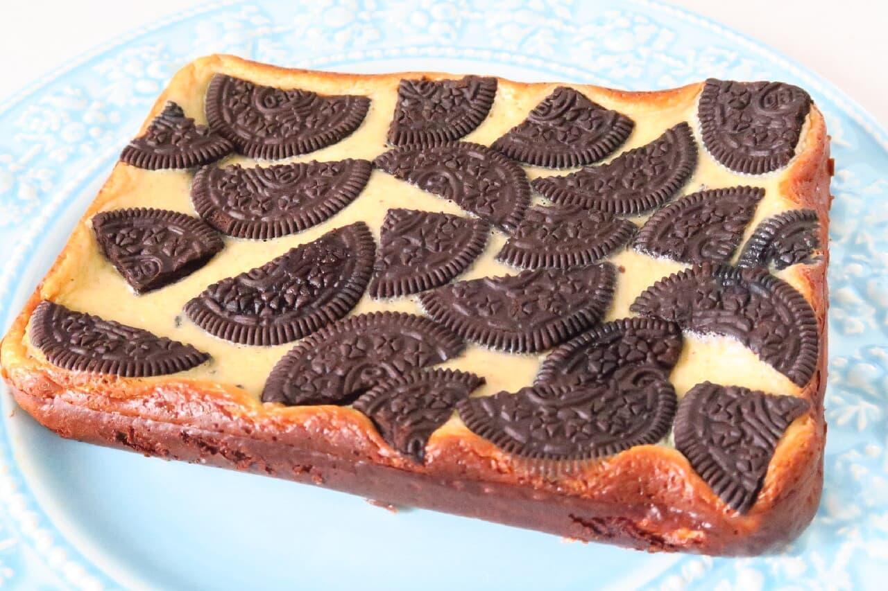 クッキー&クリーム風チーズケーキ