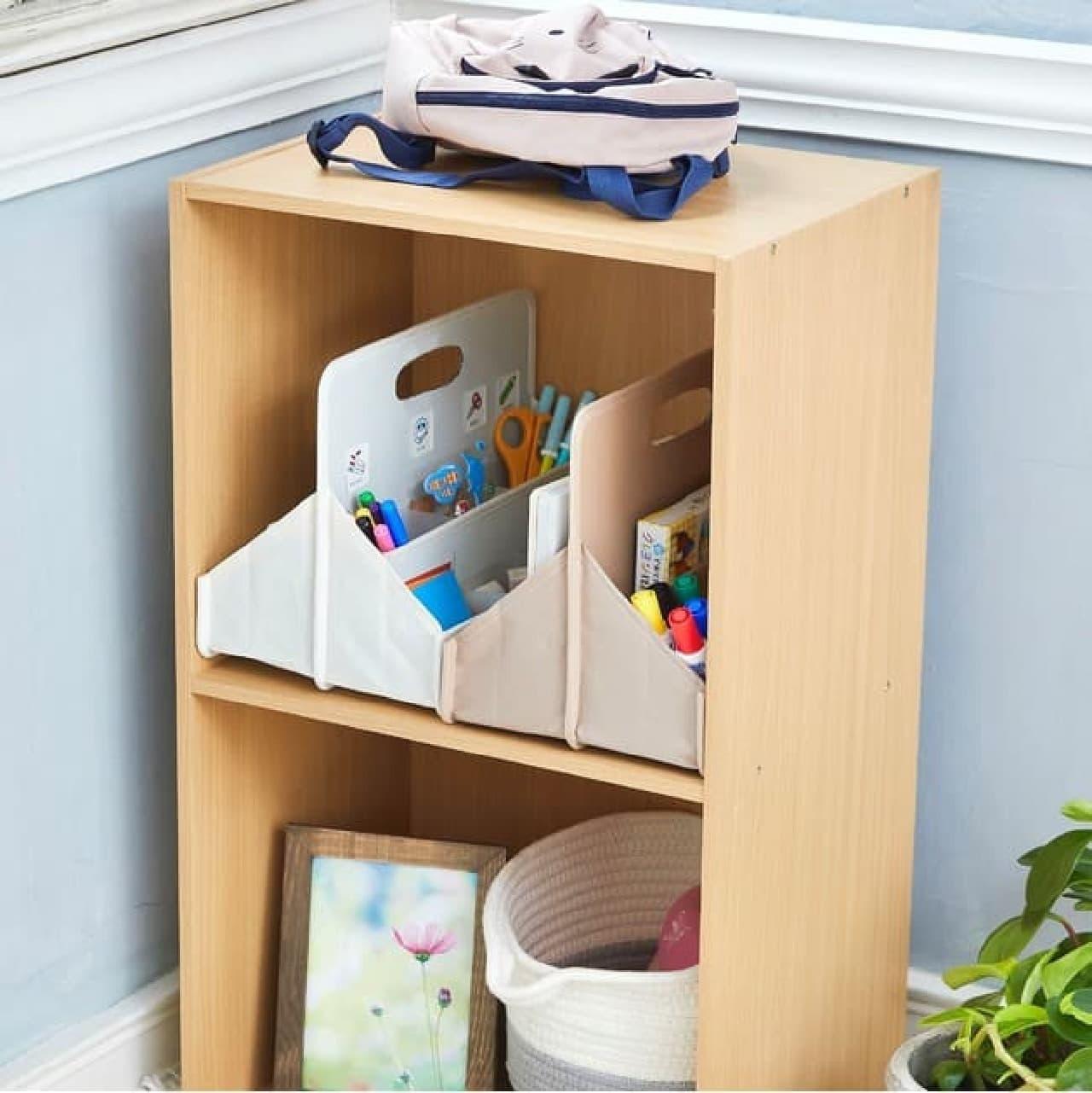 おかたづけボックス・お気に入りバッグがサクラクレパスから -- 子どもの整理整頓・持ち運びに