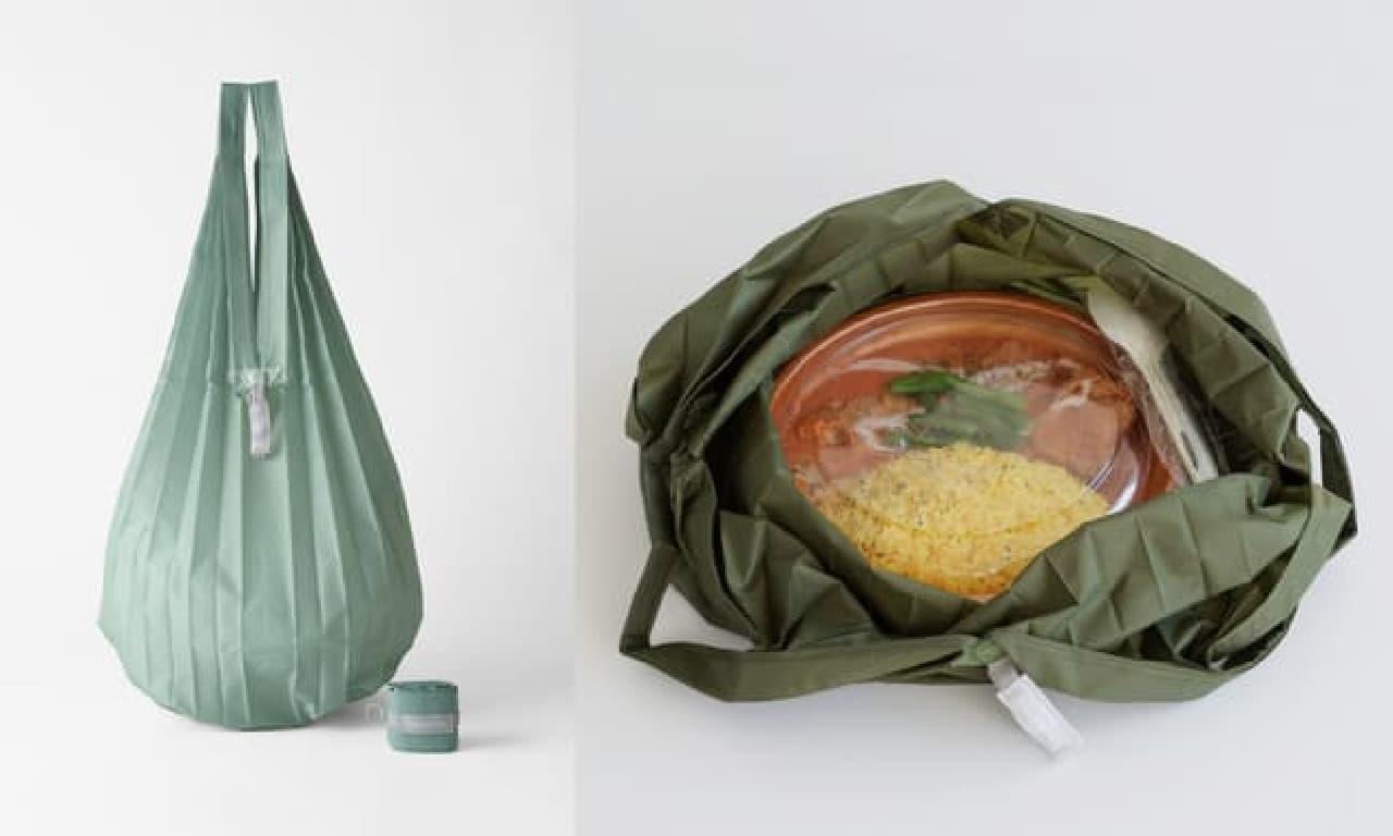 「シュパット ミニマルバッグ Drop」マーナから -- カラビナに付けられる超コンパクトなエコバッグ