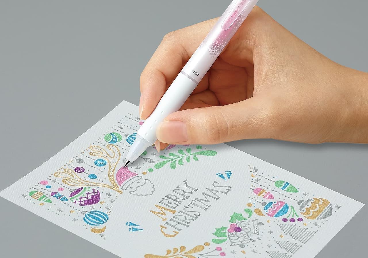 消せるラメボールペン「ケセラメ」第2弾 -- パステル調のインキ6色展開