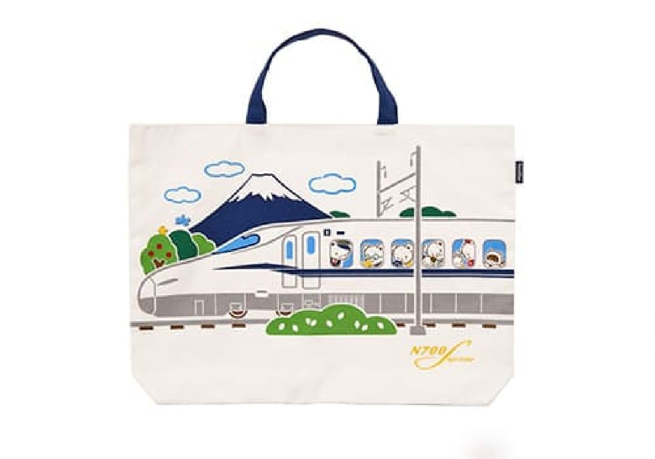 JR東海パッセンジャーズ×ファミリアのコラボ -- 新幹線デザインのトートバッグ・巾着袋など