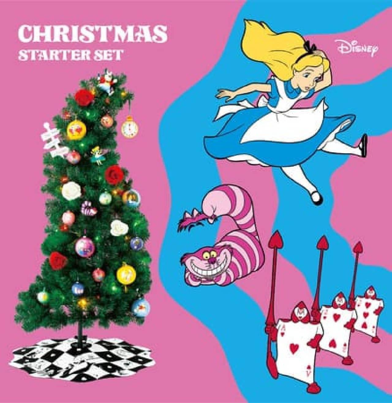 Francfranc「ふしぎの国のアリス」クリスマスツリー -- 白うさぎ・チェシャ猫などユニークに