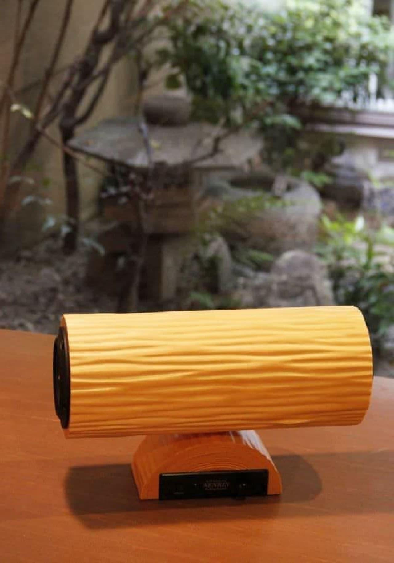 北山杉が美しい Bluetooth スピーカー「NENRIN」に