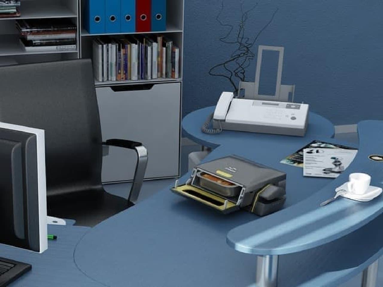 「brainwave」のデザインはオフィスに溶け込むもの  FAX と間違えて、書類を加熱する人もでてきそうです