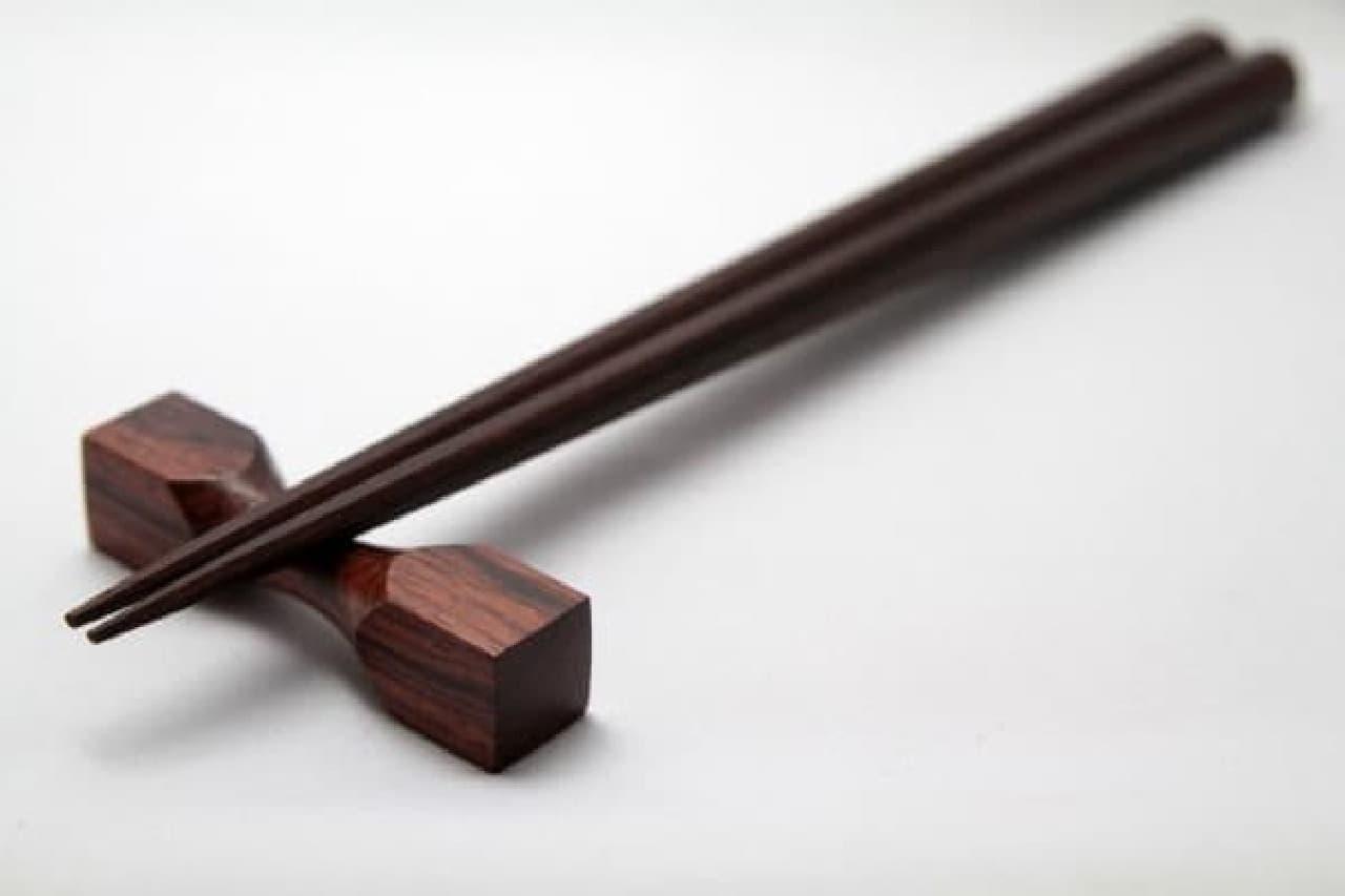 江戸八角箸 お父さん箸(太め) ビリアンローズ 23.5cm