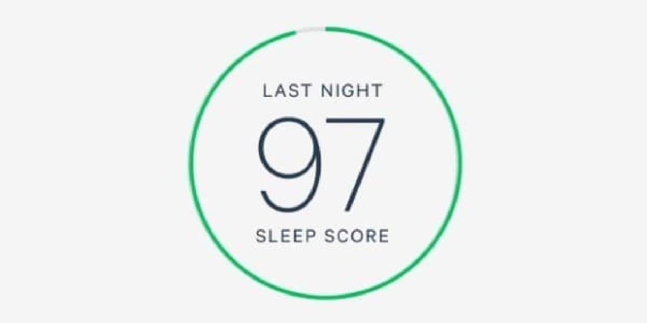 スマートフォンアプリは、睡眠の質をスコア化して表示する