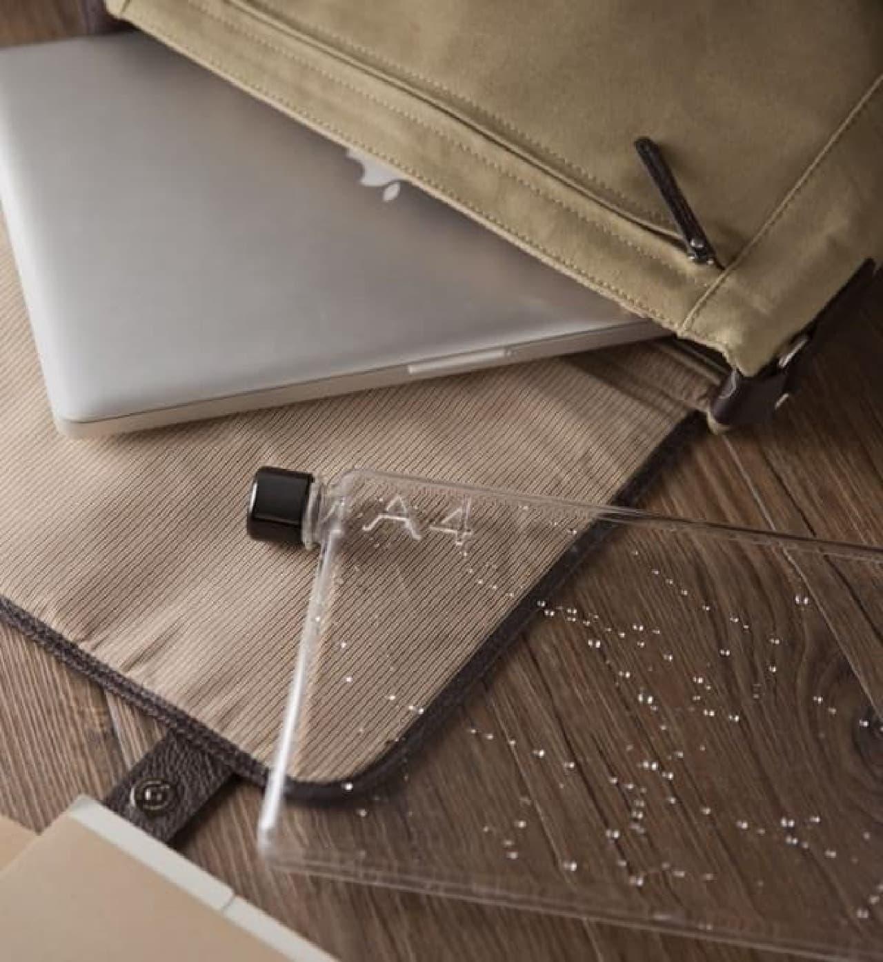 水漏れ防止策により、ノート PC が濡れることはありません