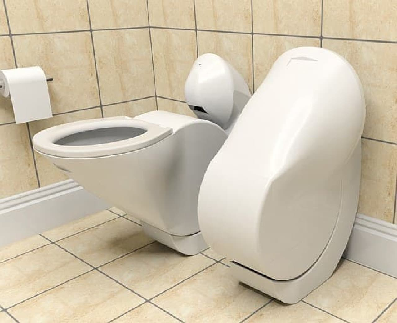 折り畳み式便器「Iota Folding Toilet」