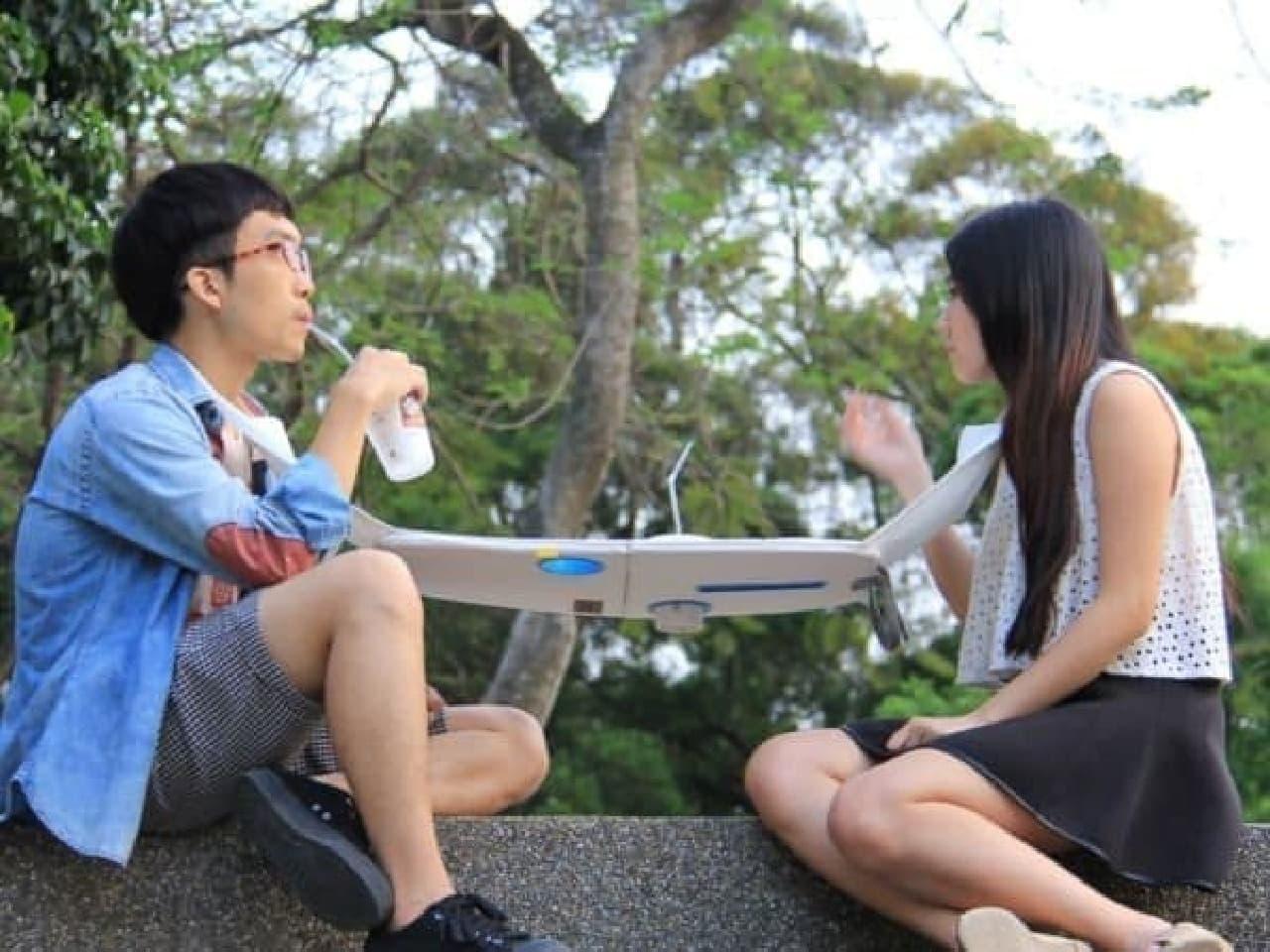 台湾 東海大学の大学院生が製作した「Napkin Table(ナプキンテーブル)」