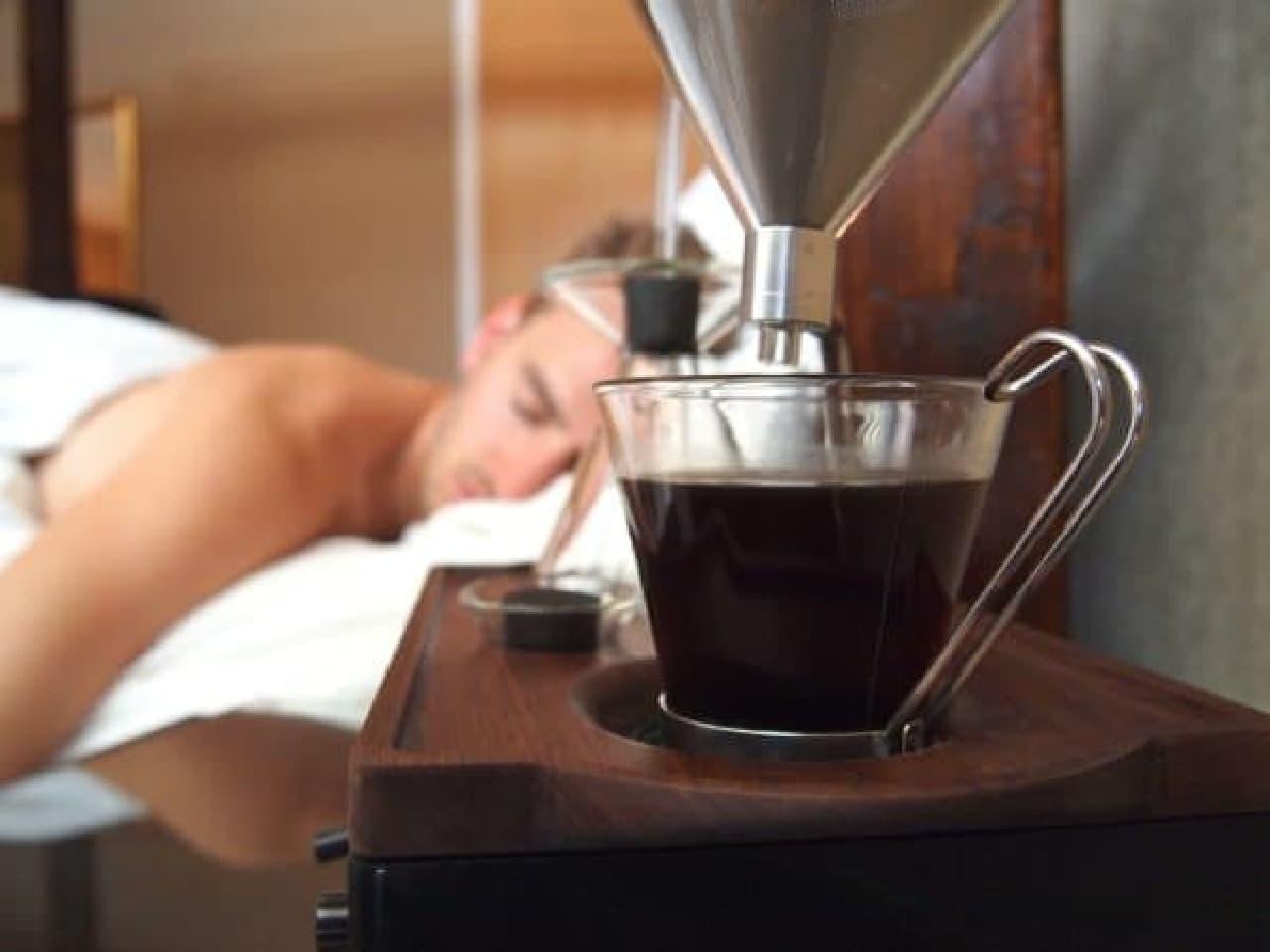 おいしそうなコーヒーの香りで、目を覚まさせる  これが「the barisieur」のコンセプト