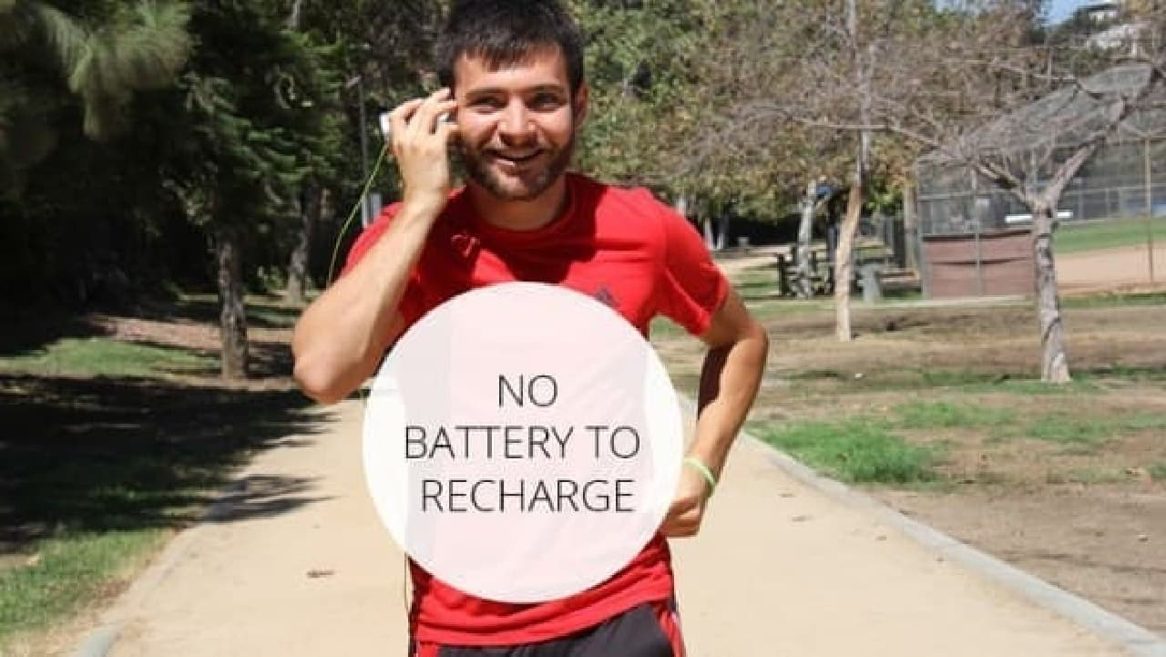 「iCups」は充電不要!