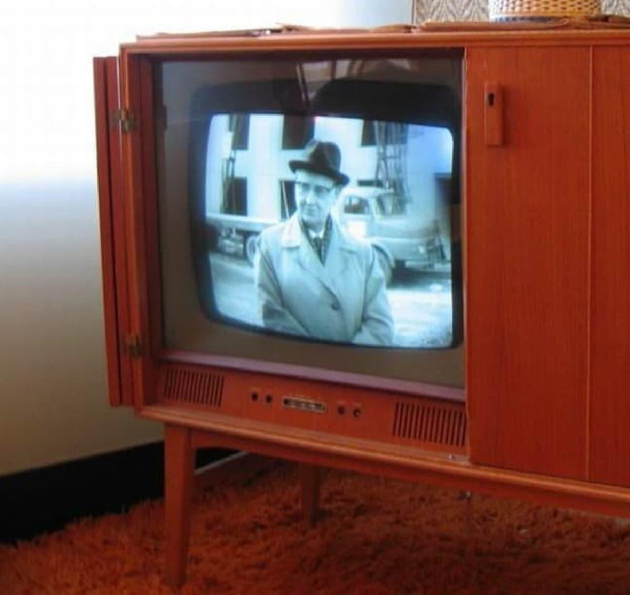 1950年頃のテレビ受信機(出典:Wikipedia)