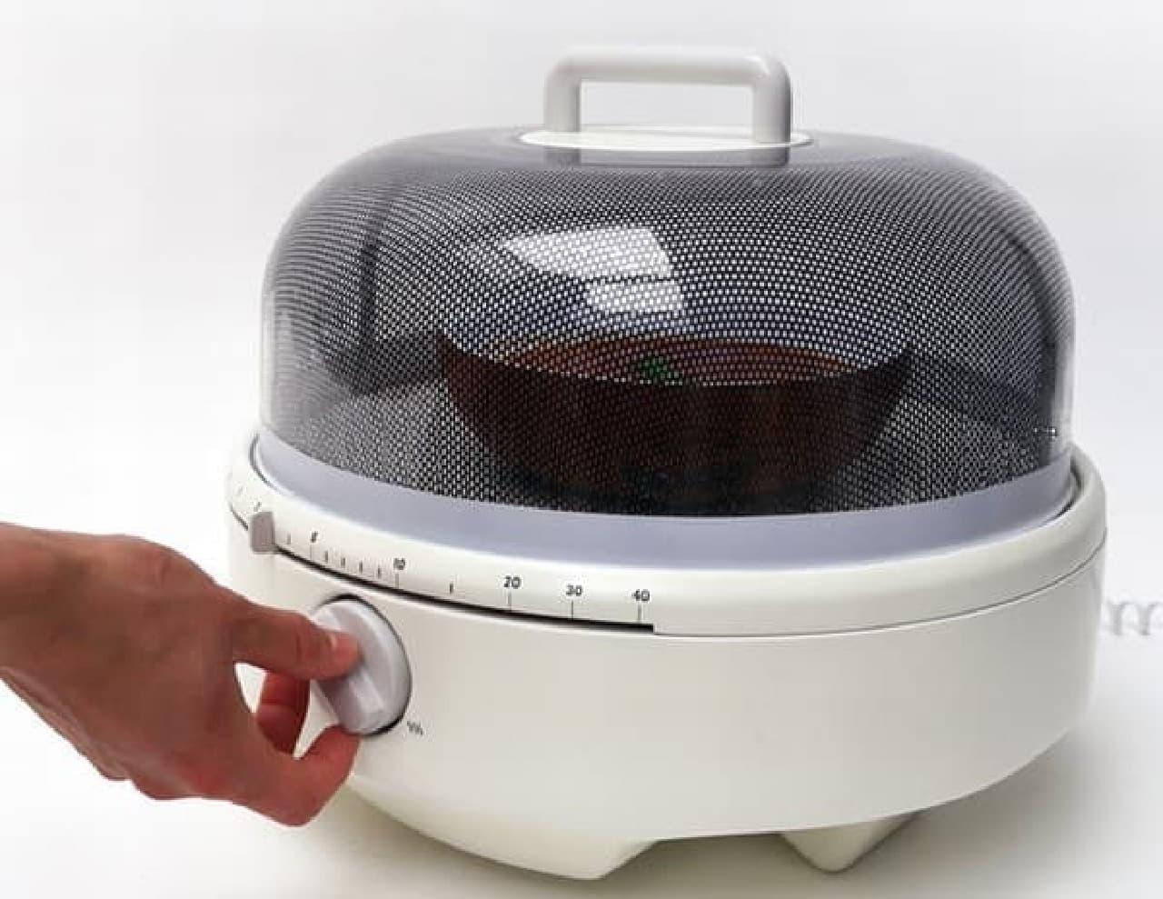 「Mediumwave」を使えば、テーブル上で手軽にスープを温められます