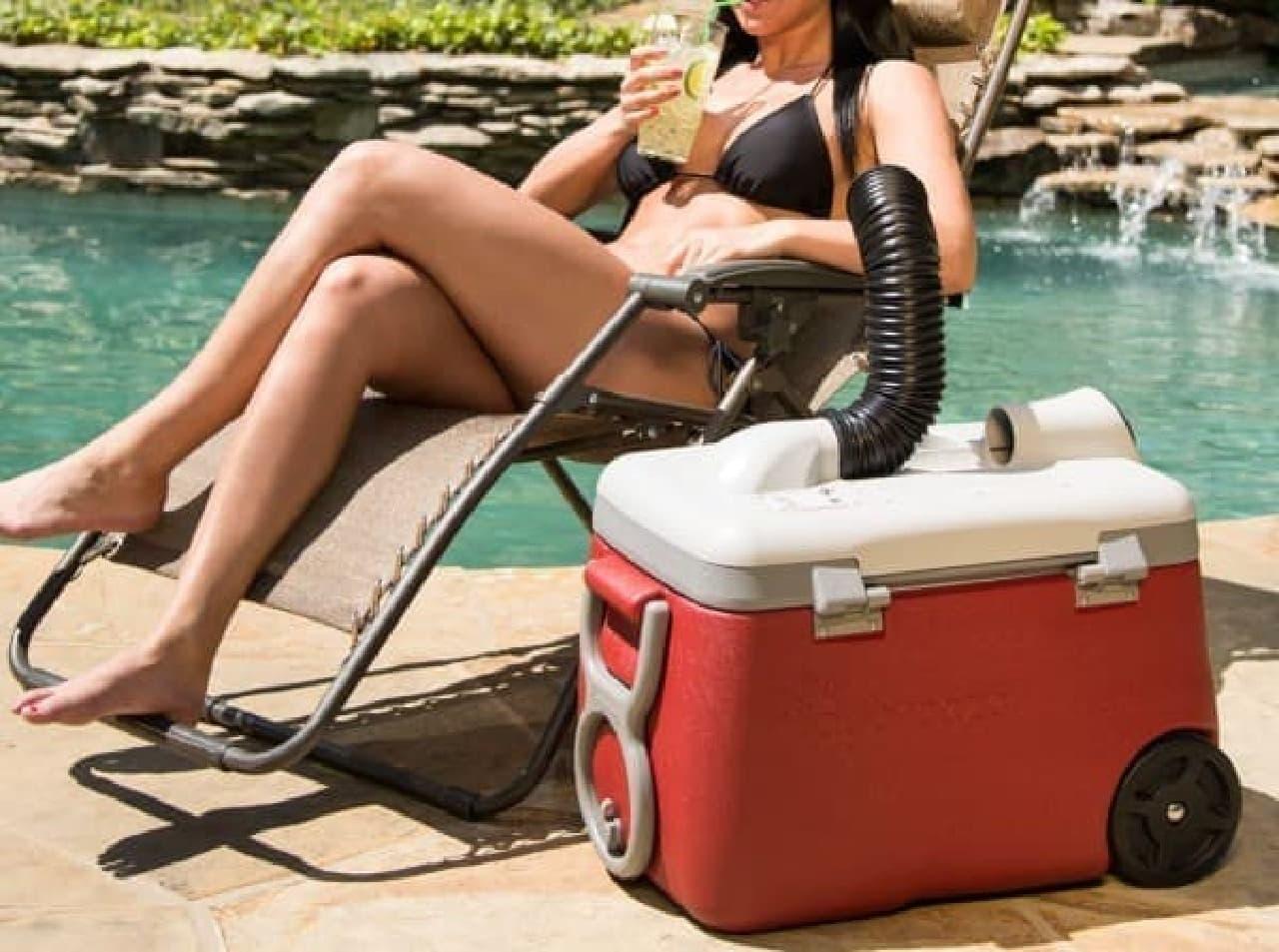 個人用のクーラー「Icybreeze Cooler」  庭のプールにぴったりです