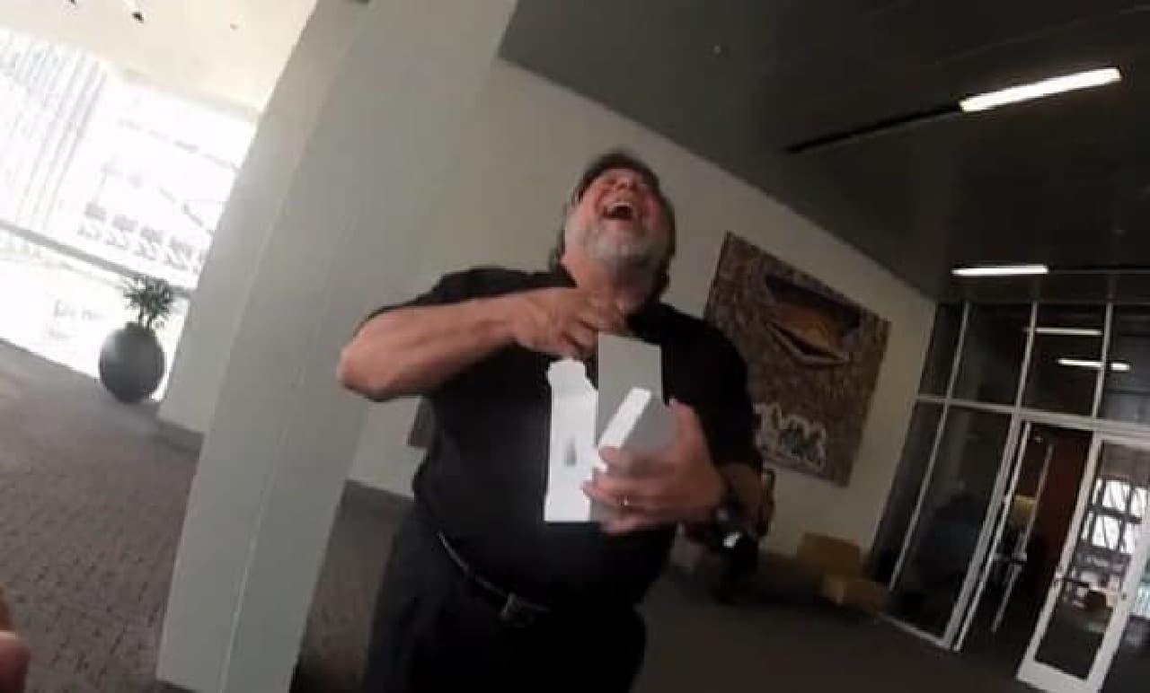 爆笑する Steve Wozniak 氏