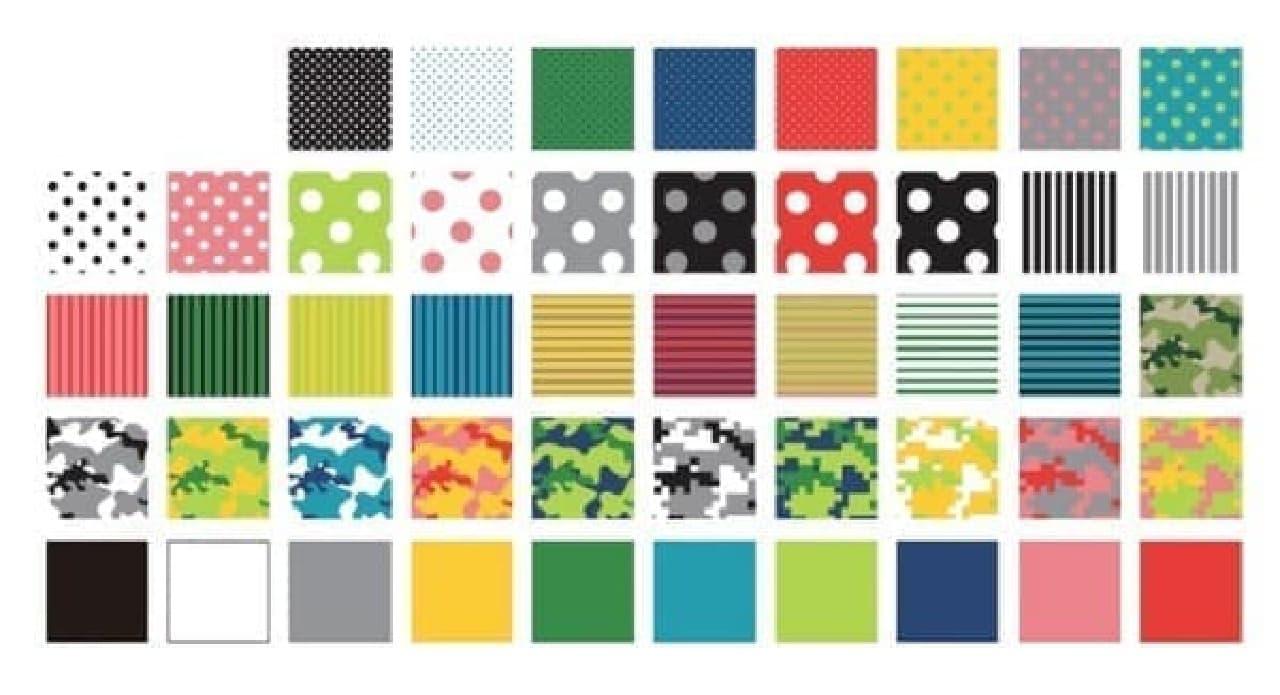 パターンとカラーを組み合わせて