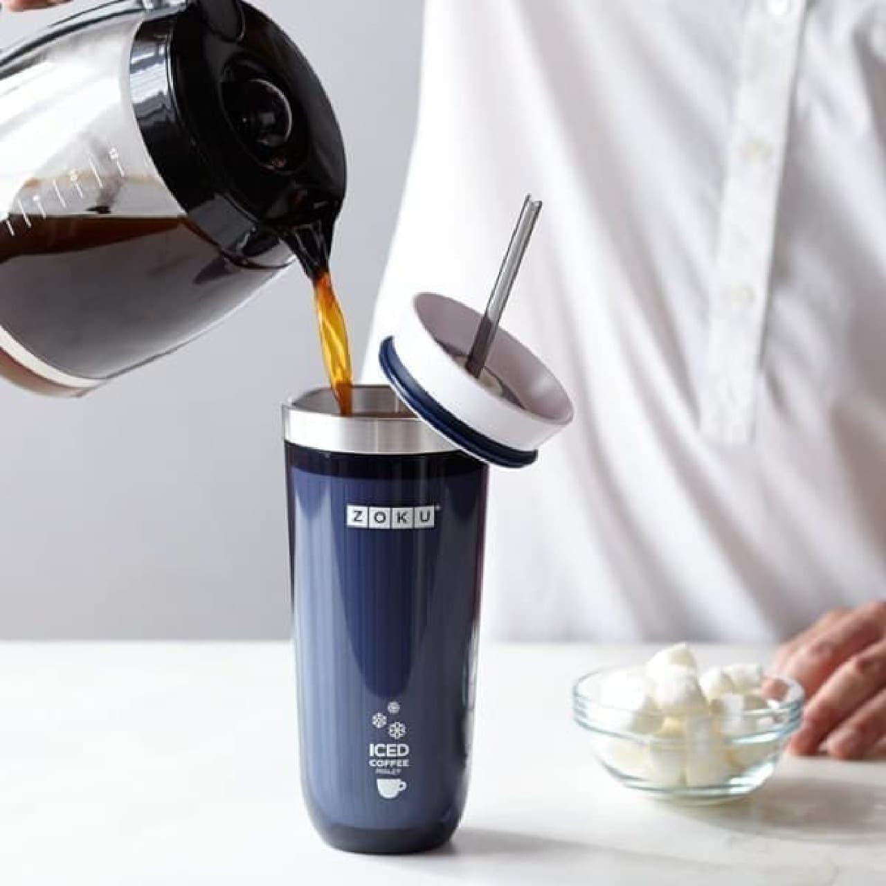 一瞬でアイスコーヒーを作れる「Zoku Iced Coffee Maker」