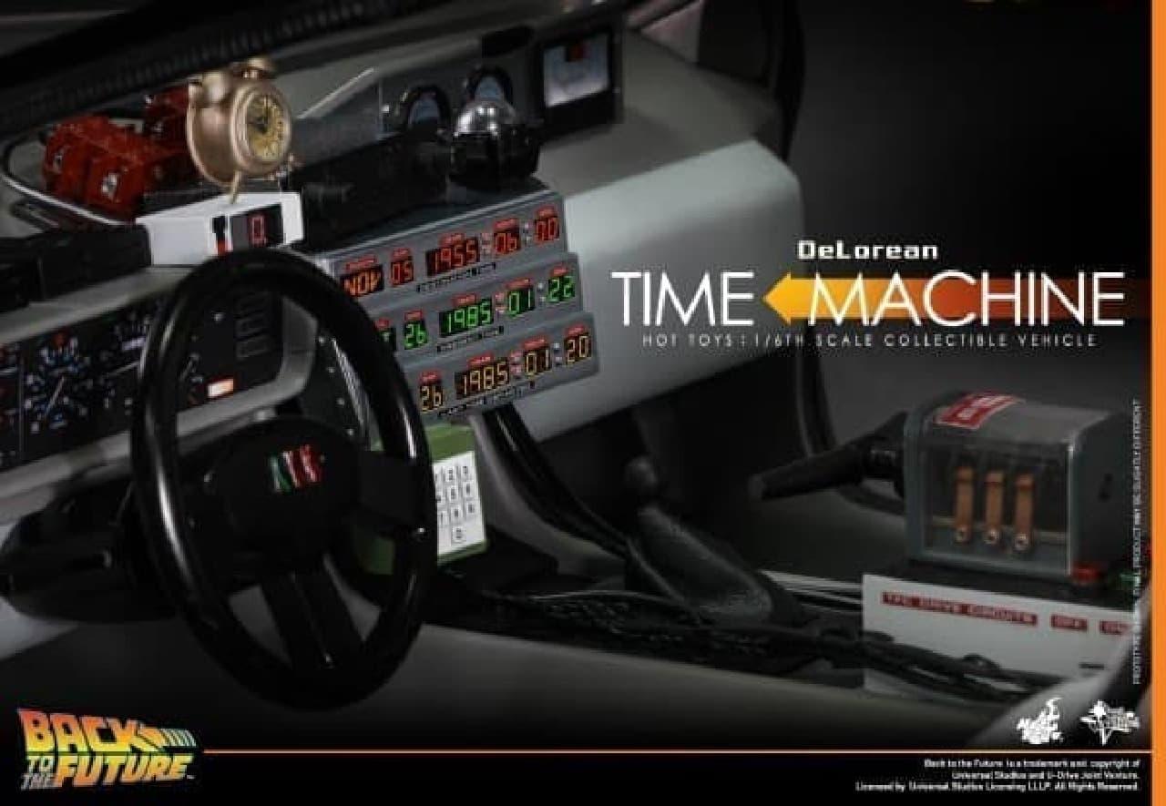 ダッシュボードの時計やタイムサーキットも再現