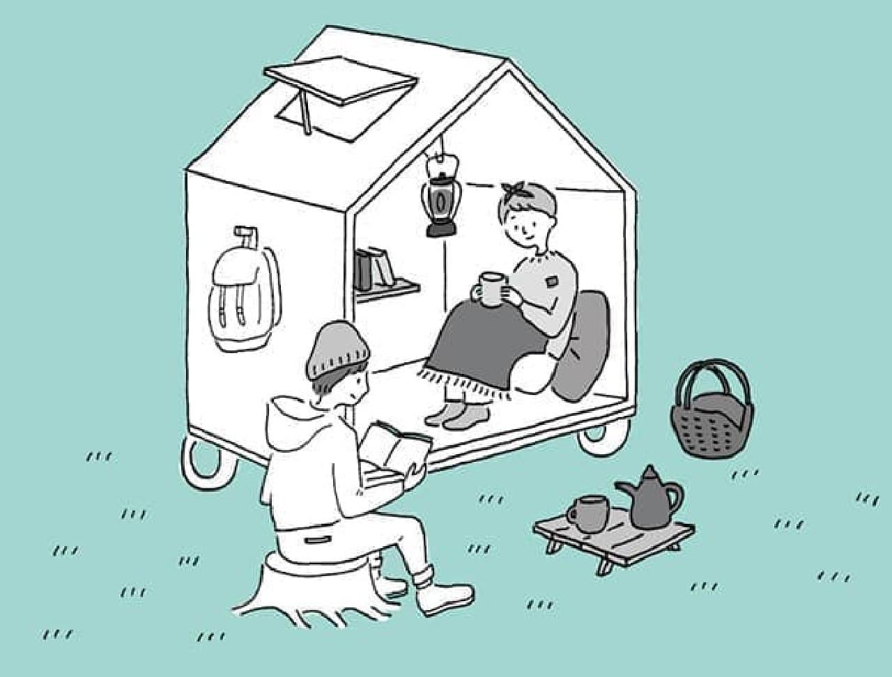 「一畳ハウス」完成予想スケッチ  実物を見てみたいぞ!