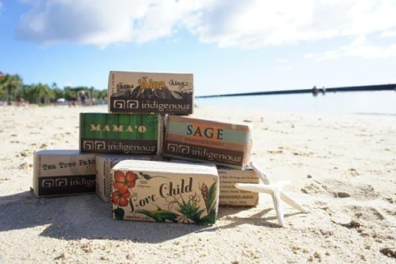 ハワイの風と香りを感じるナチュラルソープ