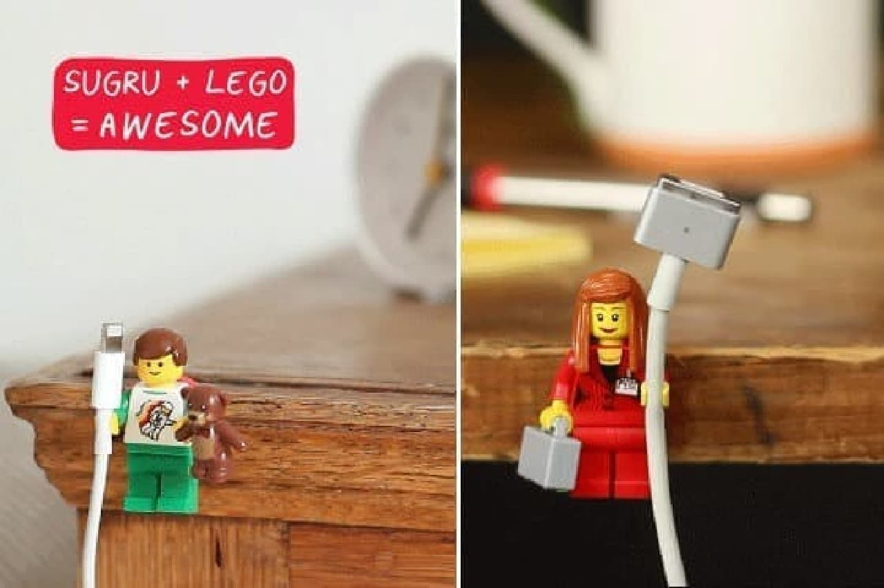 LEGO のフィギュアは意外なものにピッタリ!?  (出典:sugru 公式ブログ)