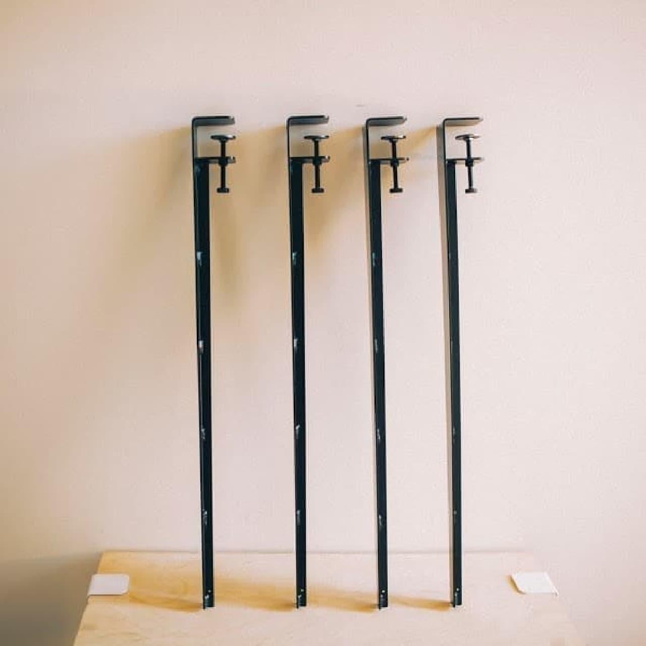 クランプで簡単に取り付け/取り外しができるテーブル脚「Floyd Leg」