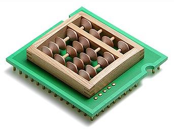 パンタグラフによる作品「珠算型 CPU」